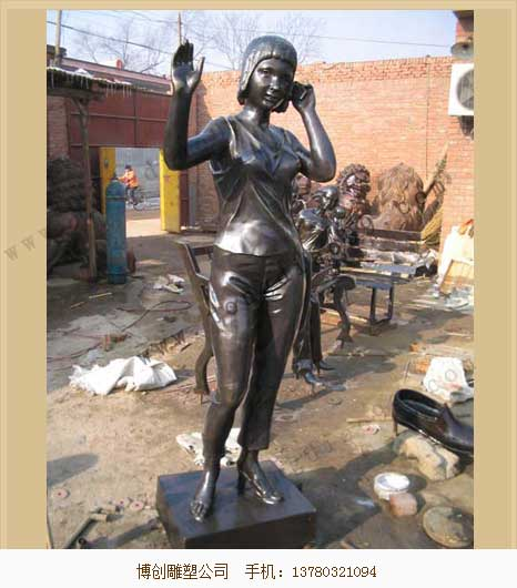 现代女性人物雕塑