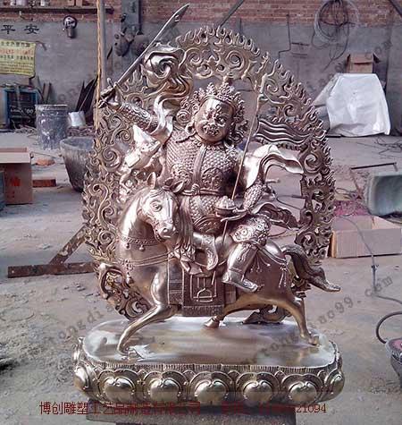 格萨尔王铜雕