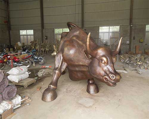 城市铜牛雕塑