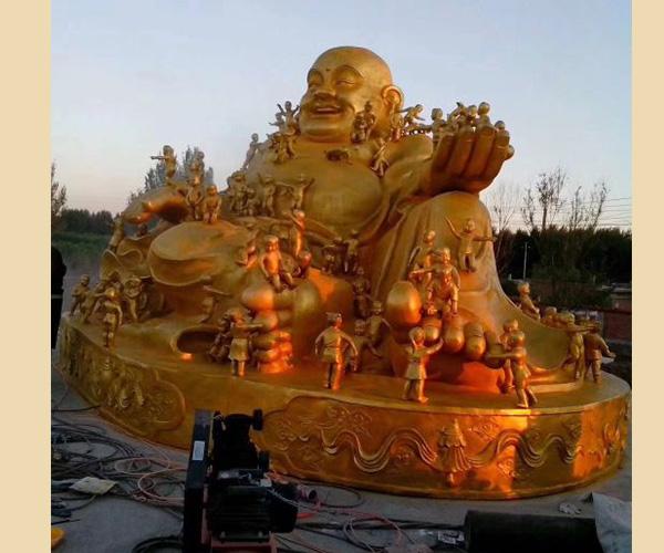 鎏金弥勒铜佛像