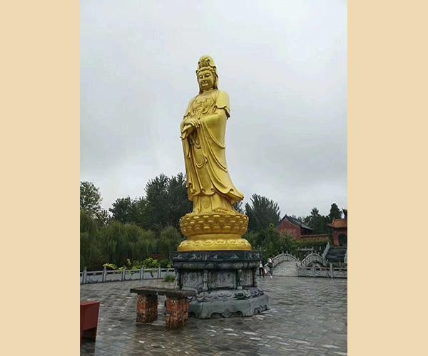 净水观音铜佛像