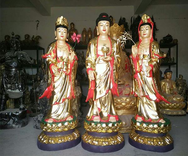西方三圣/铜佛像
