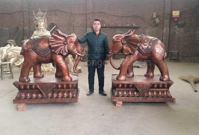 盛凡鎏金_铜大象_铜雕大象铸造_大象雕塑厂家-博创雕塑